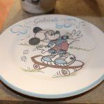 Realizzazione del set pappa personalizzato in ceramica_Ceramiche Liberati
