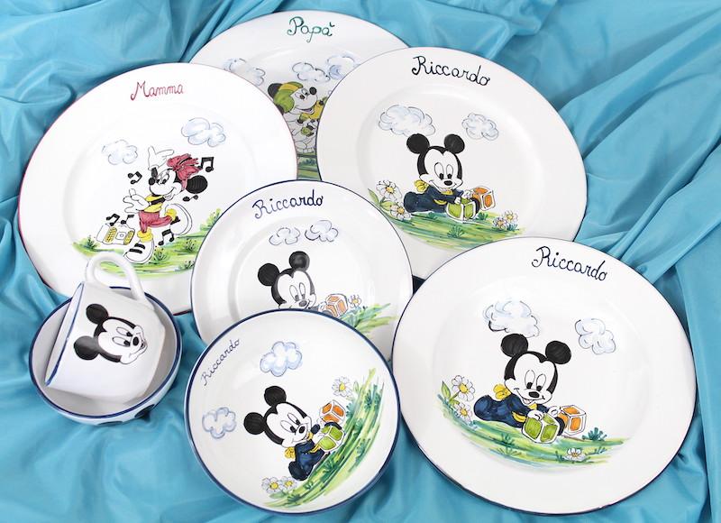 Set prima pappa in ceramica personalizzato per bimba e bimbo
