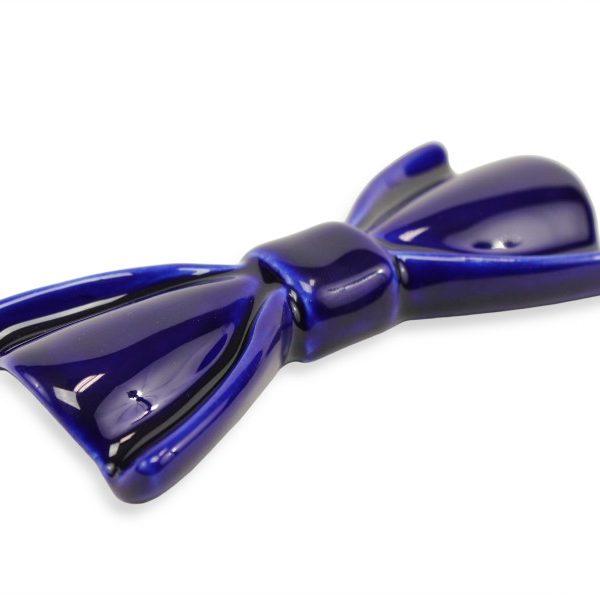 Papillon in ceramica elegante modello Narciso colore Blu Notte, Ceramiche Liberati