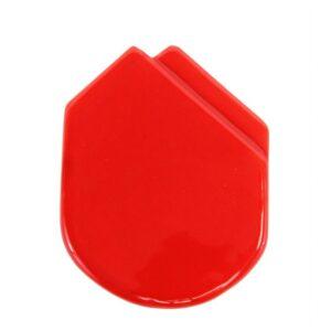 Fazzolettino in ceramica da taschino modello Montecarlo colore rosso, Ceramiche Liberati