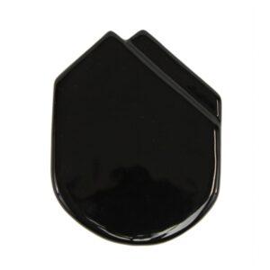 Fazzolettino in ceramica da taschino modello Montecarlo colore Nero, Ceramiche Liberati