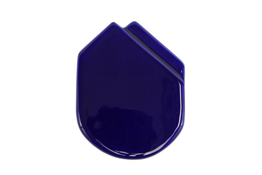 Fazzolettino in ceramica da taschino modello Montecarlo colore Blu Notte, Ceramiche Liberati