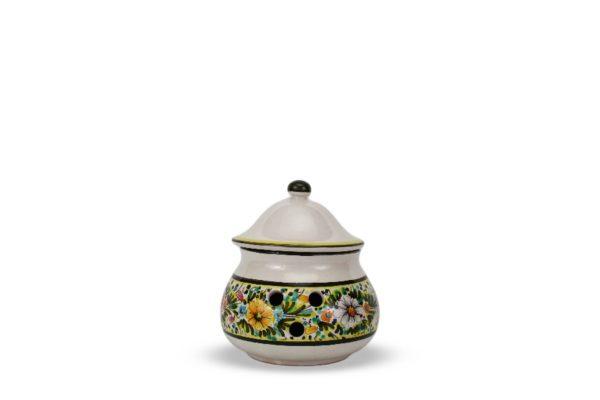 Contenitore in ceramica per aglio, Ceramiche Liberati, Villamagna, Chieti, Italia.