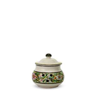 207MIT_Barattolo in ceramica portapeperoncino margherite_Ceramiche Liberati