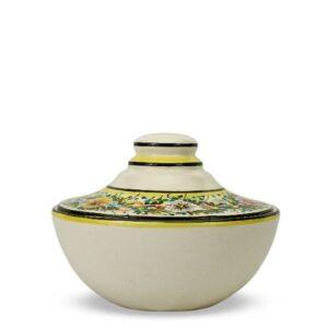 Biscottiera in ceramica decorata a mano con decoro Margherite