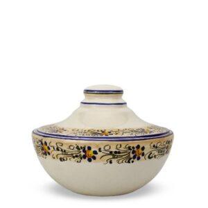 Biscottiera in ceramica italiana decorata a mano con decoro Rustico