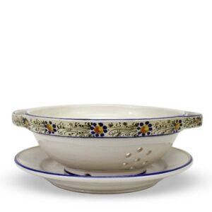 Scolafruttain ceramica artigianale, decoro Rustico